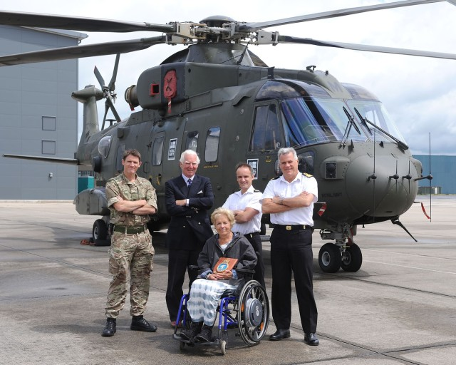 Visit of The Lord-Lieutenant of Somerset Mrs Ann Maw to the Royal Naval Air Station Yeovilton